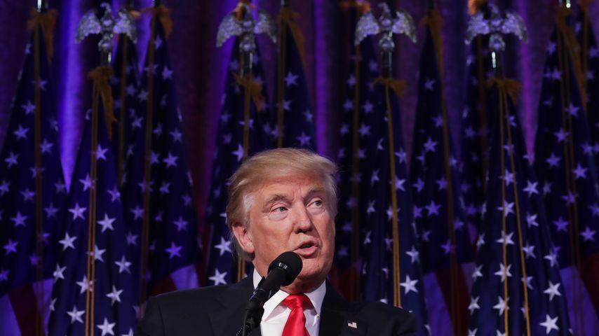 US-Präsident Donald Trump in der Wahlnacht