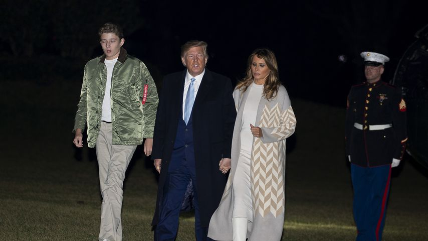 Donald und Melania Trump mit ihrem Sohn Barron, Januar 2020