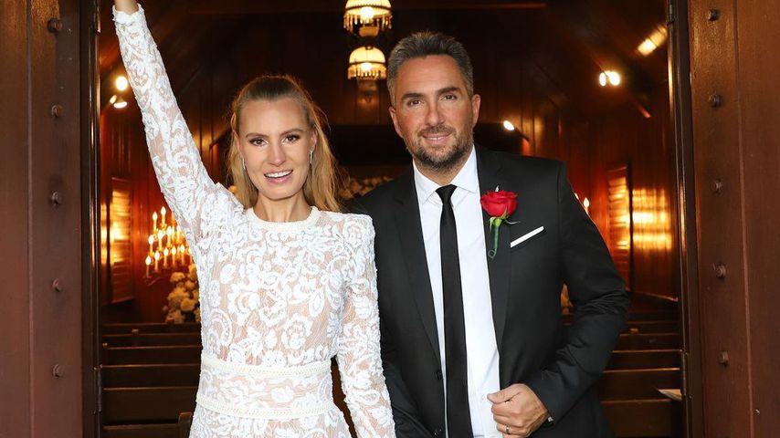 Doreen und Romain nach ihrer Hochzeit in Las Vegas