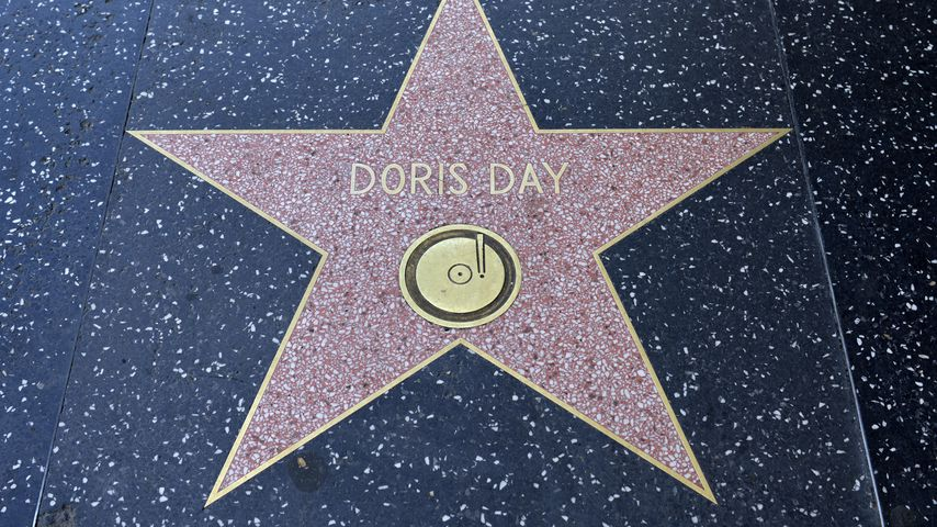 Doris Days Stern auf dem Walk of Fame in Hollywood
