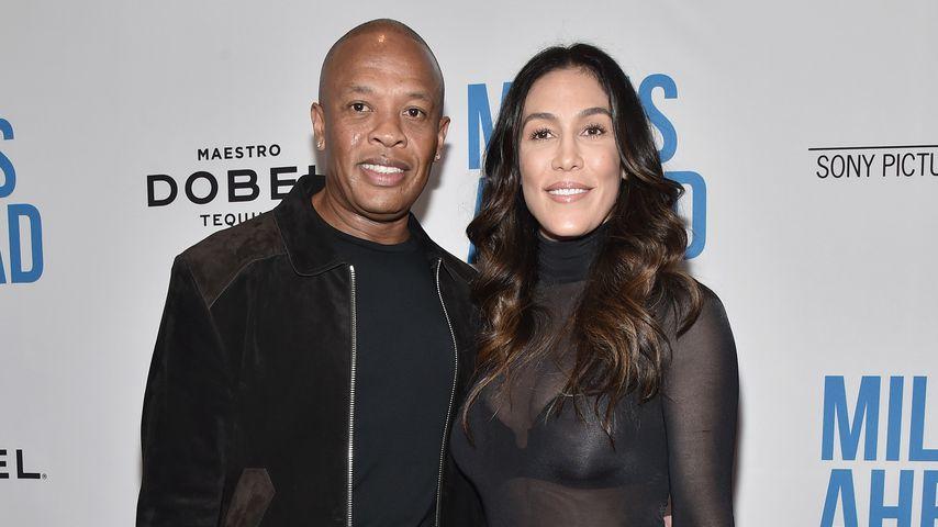 Dr. Dre mit seiner Frau Nicole Young