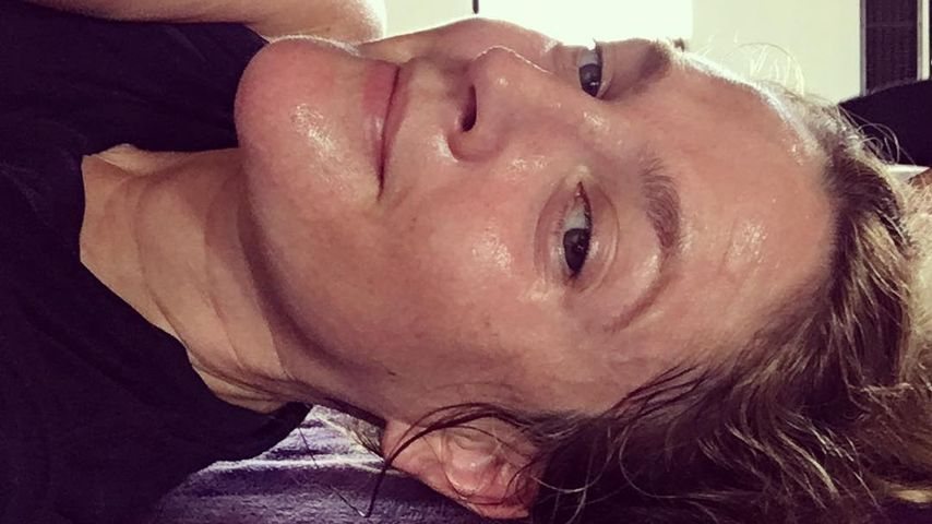 Schwitzig und rot! Drew Barrymore zeigt sich total uneitel