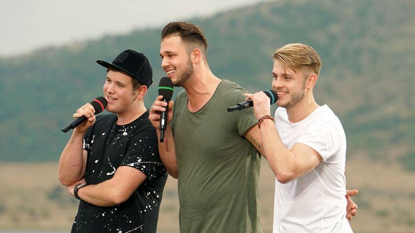 DSDS-Kandidaten Lukas Otte, Michael Rauscher und Sven Lüchtenborg