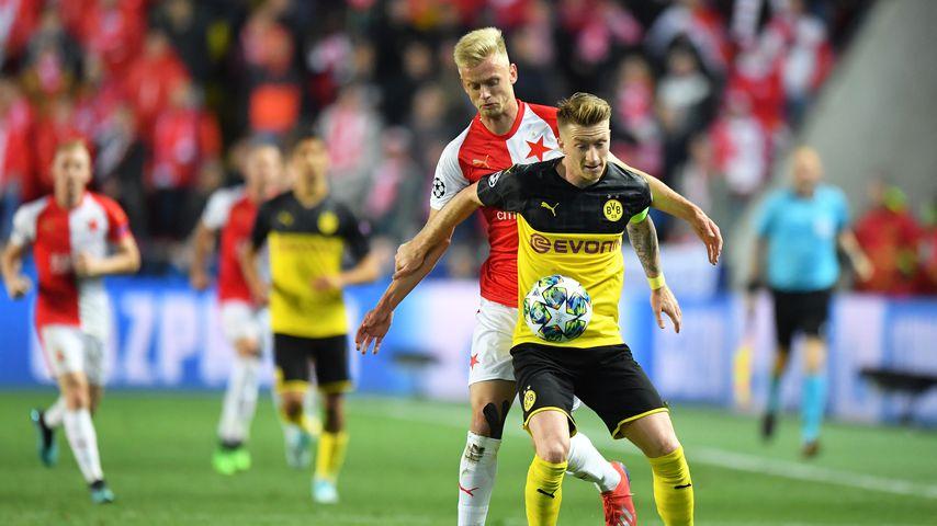Champions-League-Partie zwischen Slavia Prag und BVB Dortmund