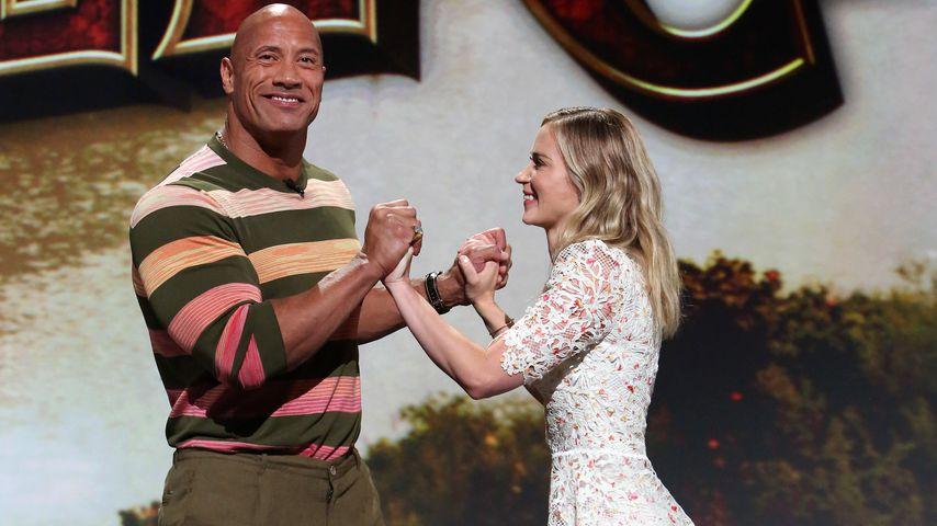 Dwayne Johnson und Emily Blunt, 2020
