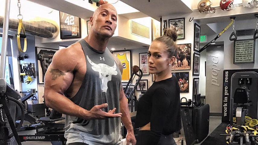 """Promi-Fitness: Mit diesem Popstar trainiert """"The Rock"""""""