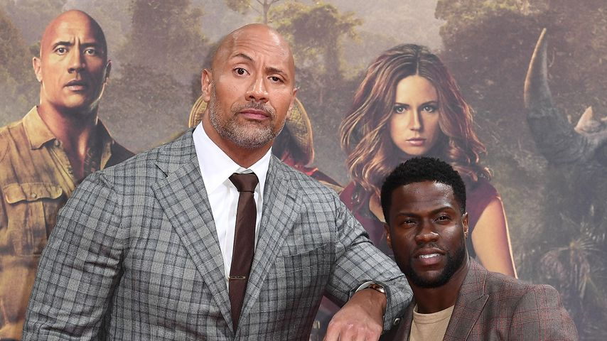 "Dwayne ""The Rock"" Johnson und Kevin Hart bei der Premiere von ""Jumanji: Welcome To The Jungle"""
