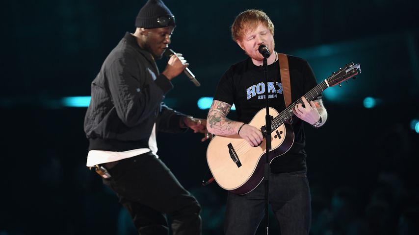 Ed Sheeran 2017 auf den BRIT Awards