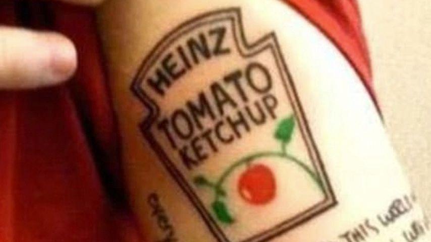 Ed Sheerans Ketchup-Tattoo