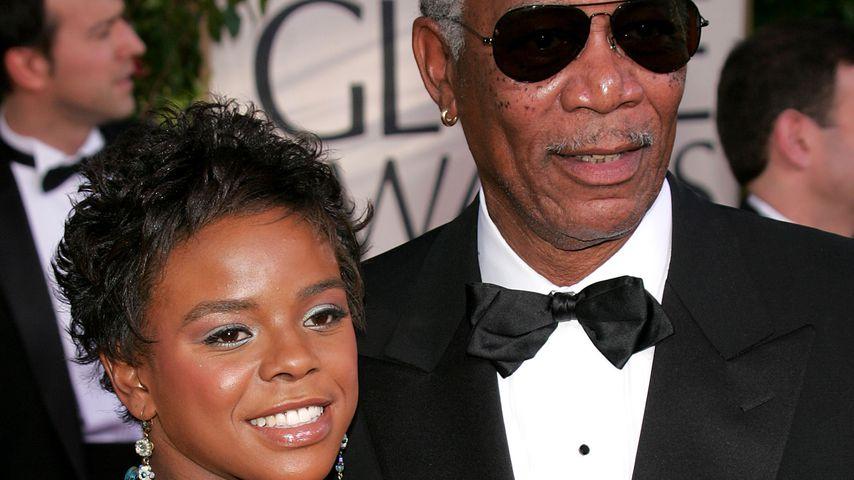 E'Dena Hines und Morgan Freeman bei den Golden Globes 2005