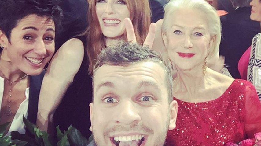 Sieger-Selfie: Nachwuchs-Star schnappt sich Hollywood-Damen