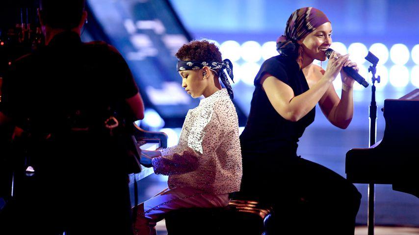 Egypt Daoud Dean und Mama Alicia Keys im März 2019