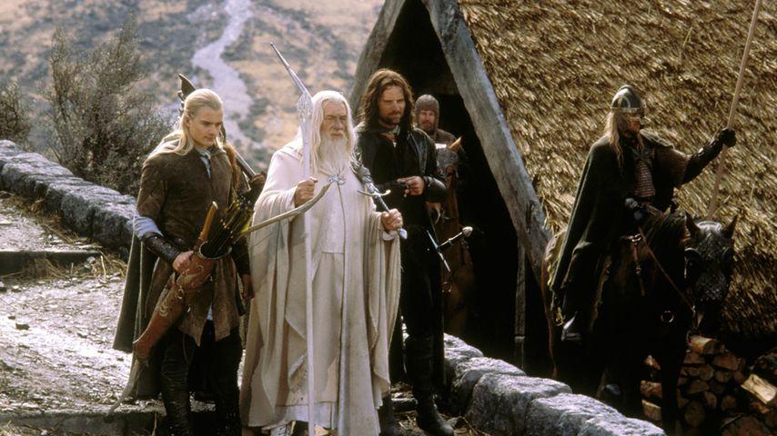 """Orlando Bloom, Ian McKellen und Viggo Mortensen in """"Der Herr der Ringe"""""""