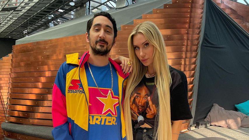 Eko Fresh und seine Frau Sarah im März 2021 in Berlin
