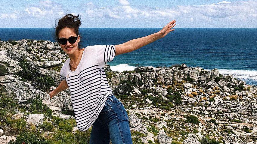 Elena Carrière an der Kap-Spitze in Südafrika