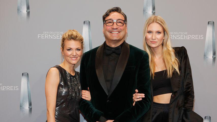 Ella Endlich, Mousse T. und Carolin Niemczyk beim Deutschen Fernsehpreis 2018