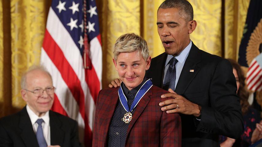 Bloß nicht losweinen! Obama zeichnet Ellen DeGeneres aus
