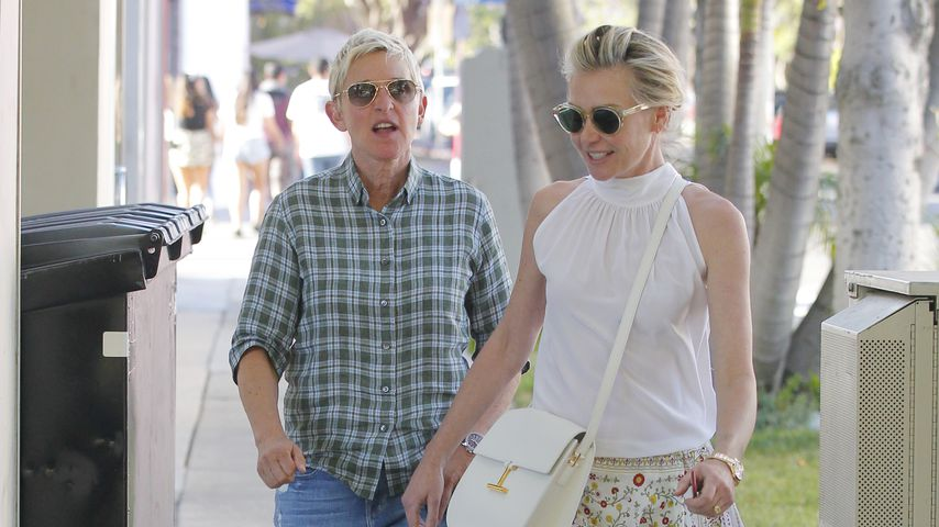 Ellen DeGeneres und Portia de Rossi nach dem Dinner in L.A.