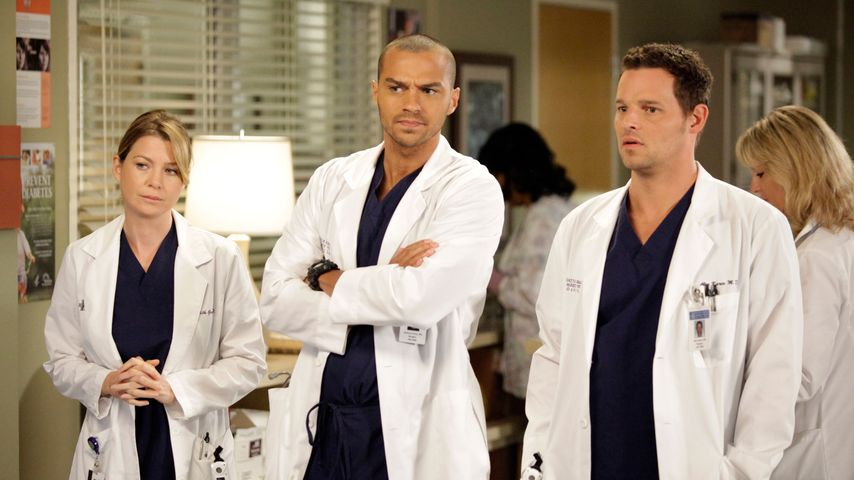 Ellen Pompeo, Jesse Williams und Justin Chambers bei Grey's Anatomy