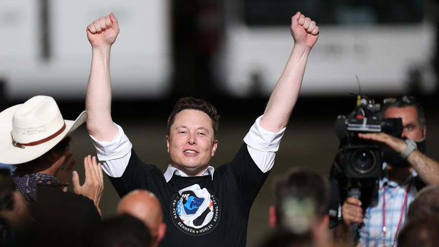 Elon Musk beim Launch seiner SpaceX Falcon 9 Rakete in Cape Canaveral im Mai 2020
