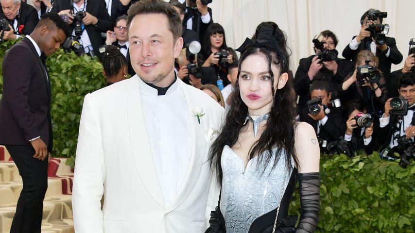 Elon Musk und seine Freundin Grimes