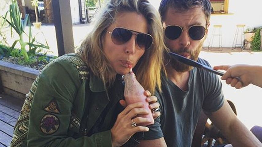 Elsa Pataky und Chris Hemsworth auf einem privaten Foto der Schauspielerin