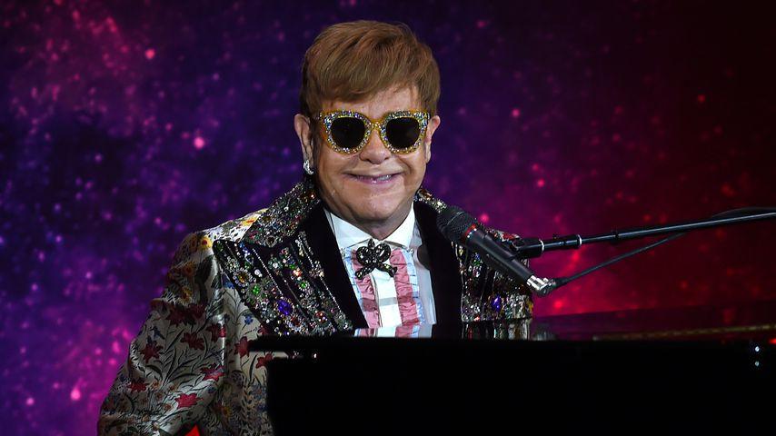 Elton John bei einer Pressekonferenz in New York City im Januar 2018