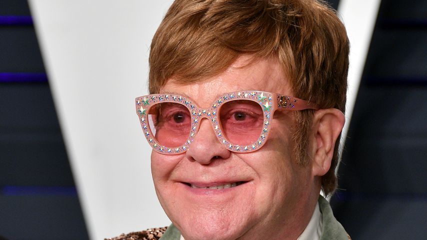 Elton John bei seiner Oscar-Party in Beverly Hills, Februar 2019