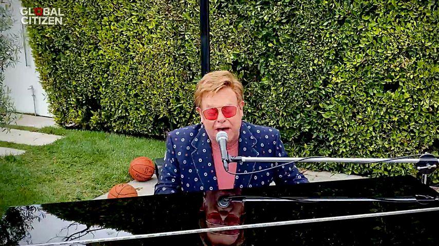 """Elton John beim """"One World: Together At Home""""-Benefiz-Konzert"""