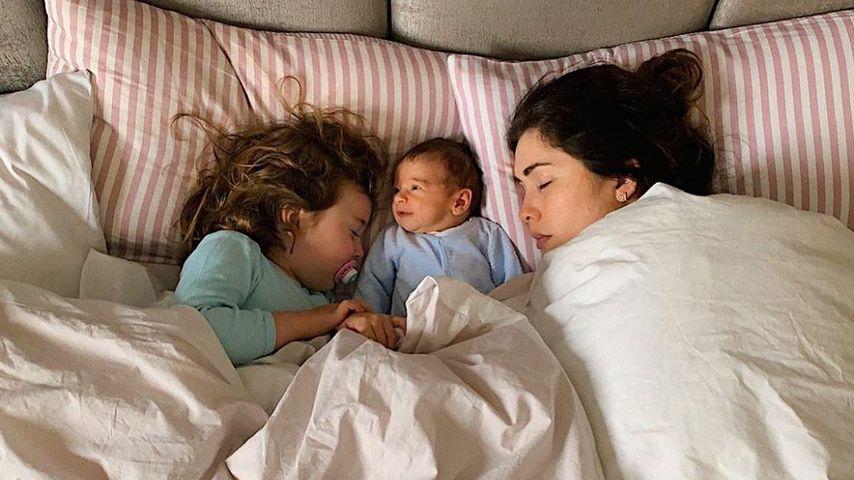 Emilia, Elija und Mama Ira Meindl, März 2020