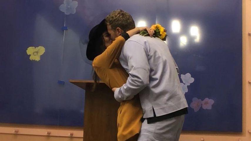 Emily Ratajkowski und Sebastian Bear-McClard bei ihrer Hochzeit 2018
