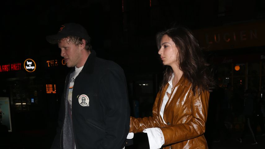 Sebastian Bear-McClard und Emily Ratajkowski in New York City
