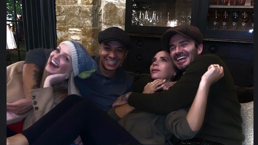 Emma Bunton und Vic Beckham genießen spaßiges Doppel-Date