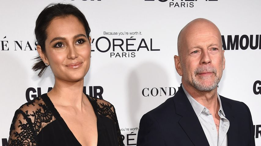 Emma Heming und Bruce Willis auf dem Red Carpet