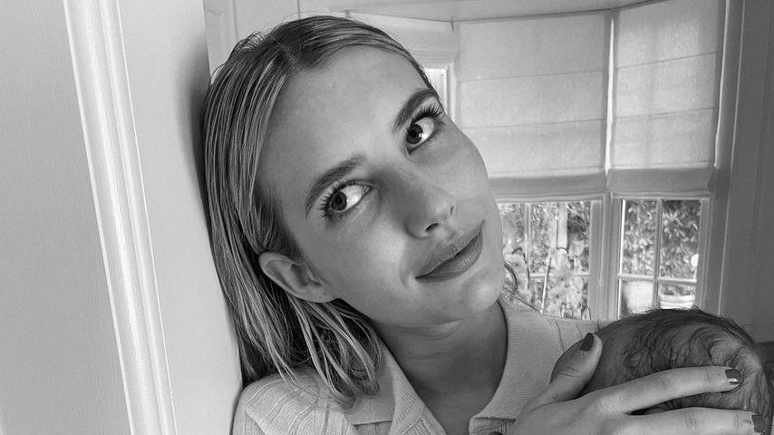 """""""So müde, so glücklich"""": Emma Roberts postet Bild mit Baby"""