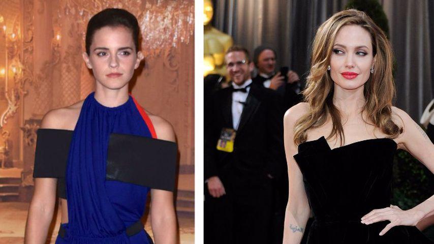 Emma Watson vs. Angelina Jolie: Wer hat das schönere Bein?