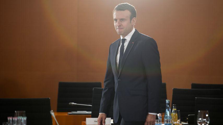 Emmanuel Macron bei einer Konferenz in Berlin