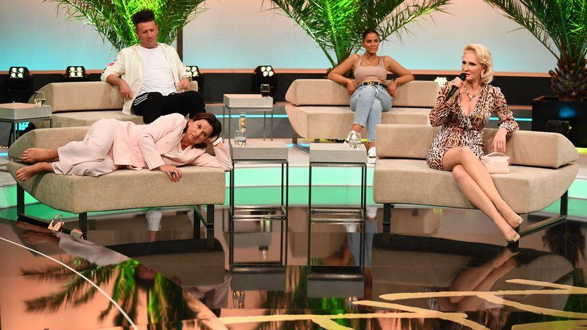 "Ennesto Monté, Claudia Obert, Janine Pink und Désirée Nick beim ""Promis unter Palmen""-Wiedersehen"