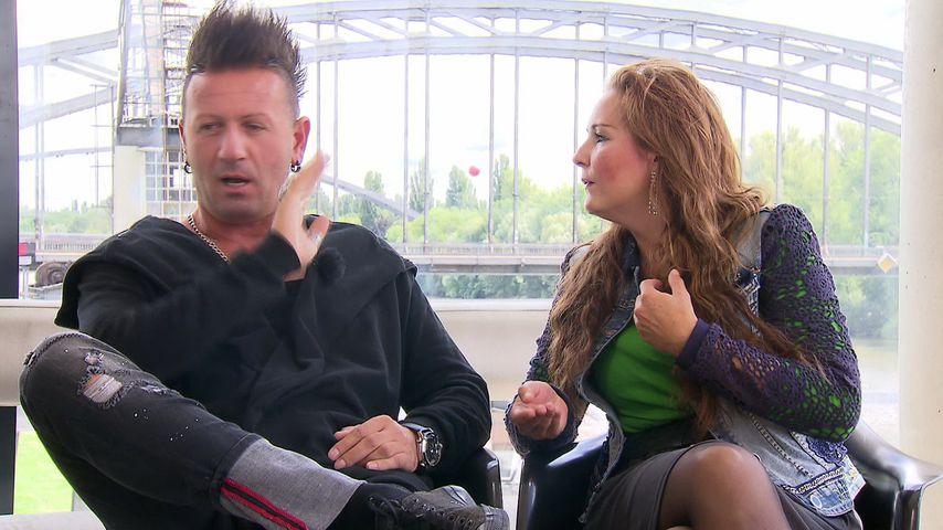 Ennesto Monte und Helena Fürst beim Interview mit RTL