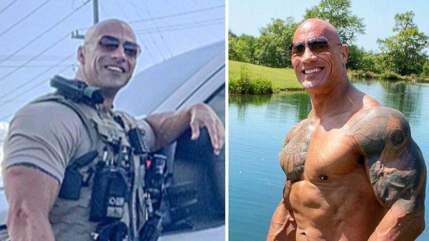 """Wow"": Dwayne Johnson reagiert auf seinen Cop-Doppelgänger"