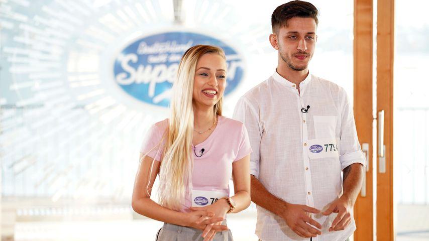 Ermira Radosta und ihr Bruder Leotrim beim DSDS-Casting