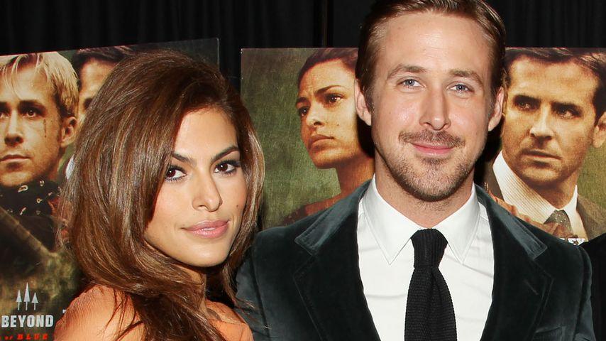Ryan Gosling und Eva Mendes bei einer Premiere
