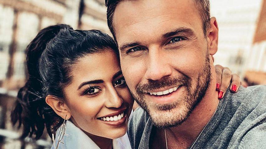 Evanthia Benetatou und ihr Verlobter Chris im April 2020 in Düsseldorf