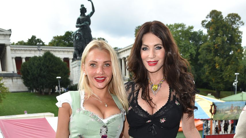 Evelyn Burdecki und Sarah Kern beim Oktoberfest 2017