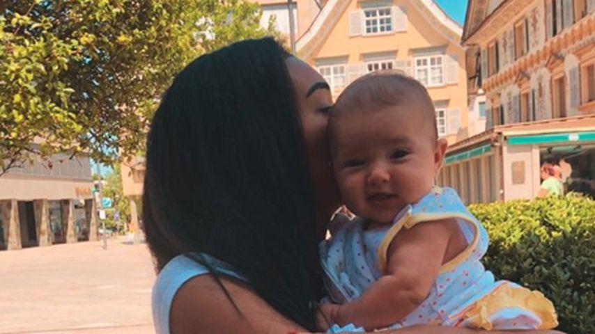 Ex-GNTM-Kandidatin Jasmin Lekudere und ihre Tochter Malia Saida