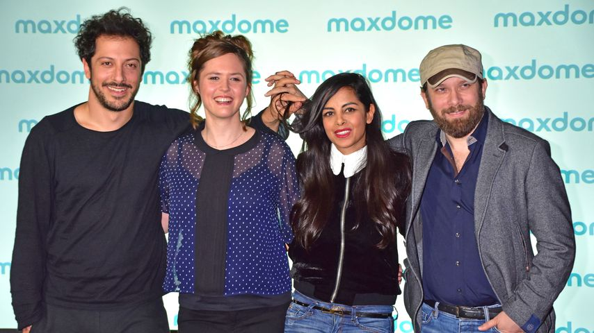 Fahri Yardim, Emily Cox, Collien Ulmen-Fernandes und Christian Ulmen im Soho House in Berlin