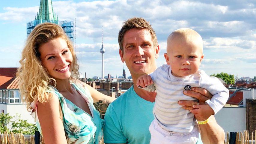 Janni und Peer Kusmagk mit ihrem Sohn in Berlin