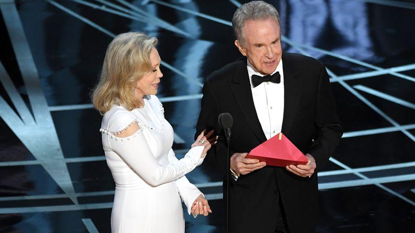Faye Dunaway und Warren Beatty bei der Oscar-Verleihung in Hollywood 2017