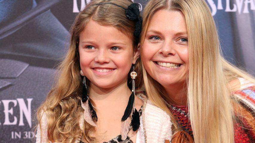 Faye Montana und ihre Mutter Anne-Sophie Briest 2012