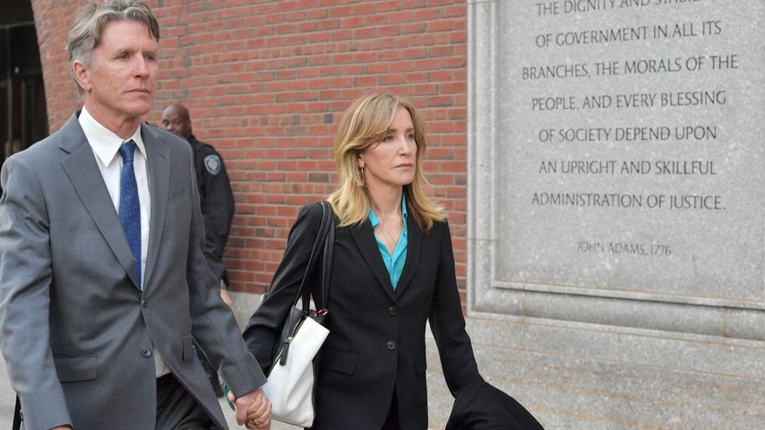 Felicity Huffman vor Gericht in Boston im April 2019